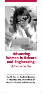 Advancing women brochure cover
